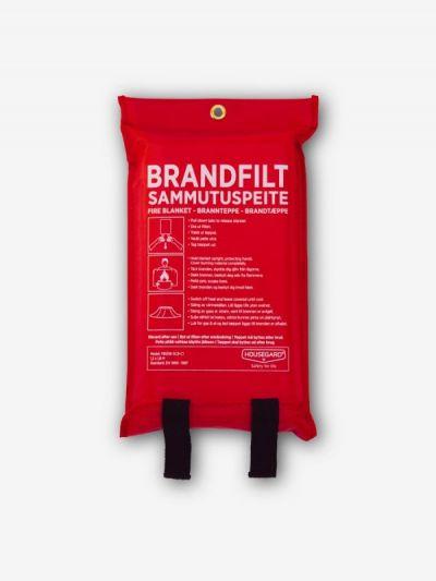 Brandfilt 120x120 cm, röd