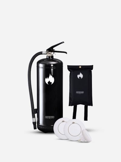Lilla Smarta Brandskyddspaketet - svart (Bostad > 60 m², 1-2 sovrum)
