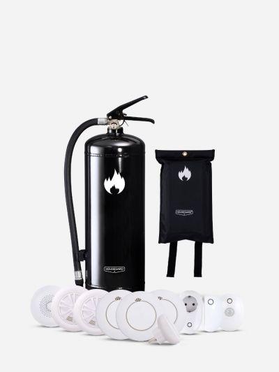 Mellan Smarta Säkerhetspaketet - svart (Bostad > 60 m², 2-3 sovrum)
