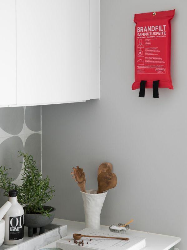 Brandfilt 120x180 cm, röd