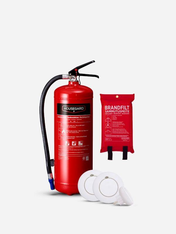 Lilla Smarta Brandskyddspaketet - röd (Bostad > 60 m², 1-2 sovrum)