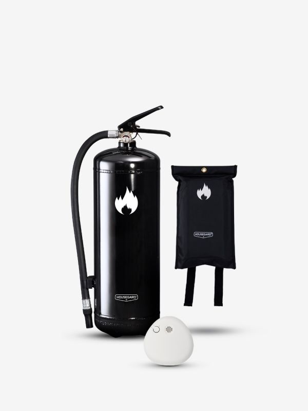 Lilla brandskyddspaketet - svart (Bostad < 60 m², 1 sovrum)