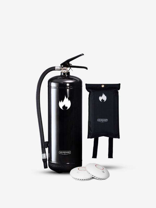 Mellanstora brandskyddspaketet - svart (Bostad > 60 m², 1-2 sovrum)
